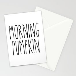 Morning Pumpkin Stationery Cards