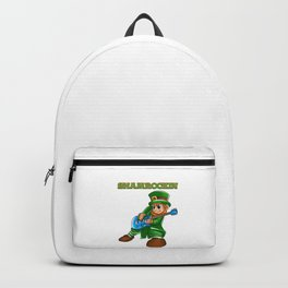 Shamrockin_ Leprechaun Guitarist St Patricks Backpack