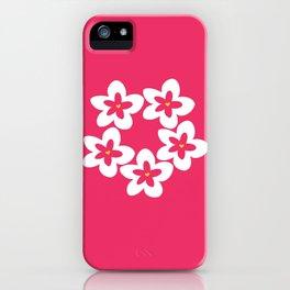 Pink Plumeria Lei (Pink) iPhone Case