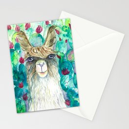 Llama in cacti Stationery Cards