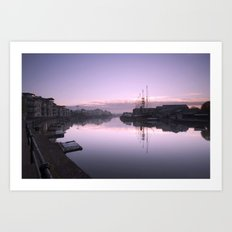 Bristol City Docks Art Print
