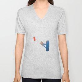 Illustration Kite Buggy Silhouette Unisex V-Neck