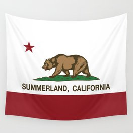 California Flag Summerland Wall Tapestry