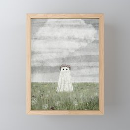 There's A Ghost in the Summer Meadow Framed Mini Art Print
