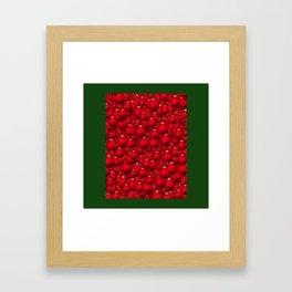 RED ORNAMENTS Framed Art Print