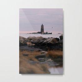 Whaleback Light II Metal Print