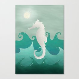 Sea Stallion #Seahorse #Ocean Canvas Print