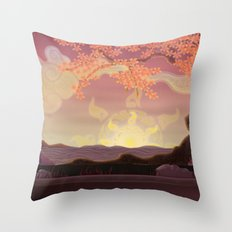 Chinese landscape Throw Pillow
