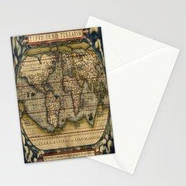 Vintage World Map - Ortelius World Map 1570 Stationery Cards