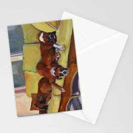 Boxer Dog Siesta Stationery Cards