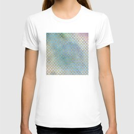 Luxurious Blues Mermaid Scale Pattern T-shirt