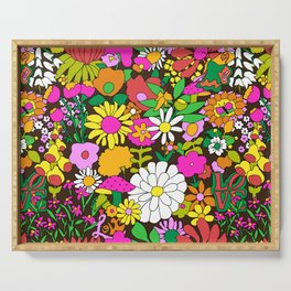 60's Groovy Garden in Chocolate Brown Serving Tray