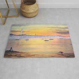 Impressions Of Provincetown Cape Cod USA Rug