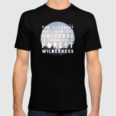 Wilderness Black Mens Fitted Tee MEDIUM