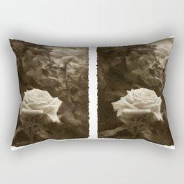 Pink Roses in Anzures 5 Antiqued Rectangular Pillow