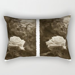 Pink Roses in Anzures 5 Antiqued Rectangular Pillow