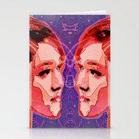 gemini Stationery Cards featuring Gemini by Steve W Schwartz Art