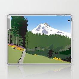 Mt Hood Meadows Hike Laptop & iPad Skin