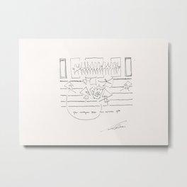 Music n7 by Tade Garben Metal Print