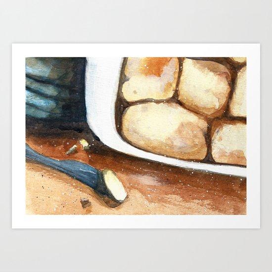 Making biscuits Art Print