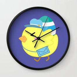Courier Chicken Wall Clock