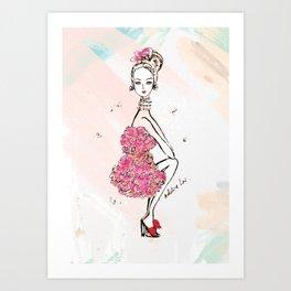 Carnation Girl Art Print