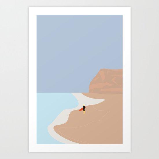 FORNØJELSE SURF Nr.01 Art Print
