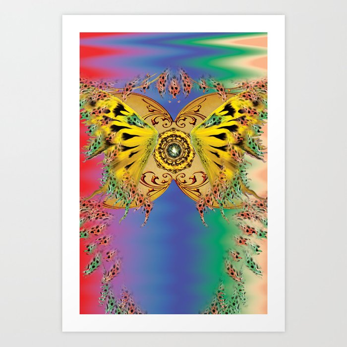The dance of the butterfly Art Print