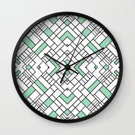 PS Grid 45 Mint Wall Clock