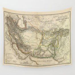 Map of Persia circa 1847 (Afghanistan, Pakistan, Iran) Wall Tapestry
