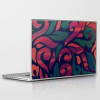vintage floral Laptop & iPad Skins featuring VINTAGE FLORAL by Julia Tomova