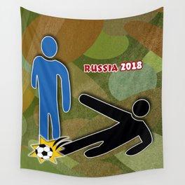 Soccer Sliding Wall Tapestry