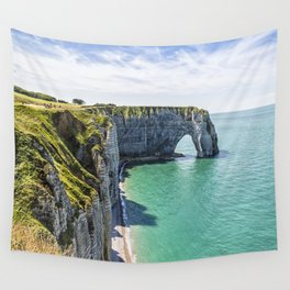 The cliffs of Etretat Wall Tapestry