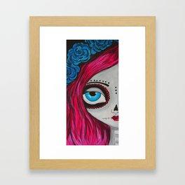 Muertos Girl in Pink Framed Art Print