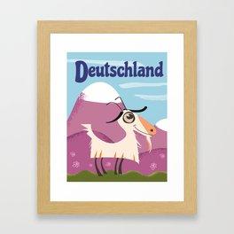 Deutschland Mountain Goat Framed Art Print