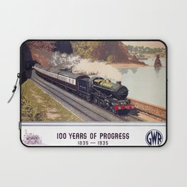 100 Years of Progress, 1835-1935. GWR Vintage Travel Poster Laptop Sleeve
