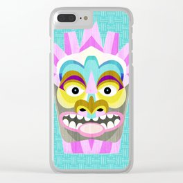 Hawaiian Tiki Aloha Clear iPhone Case