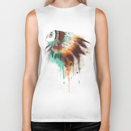 Native American Girl Biker Tank