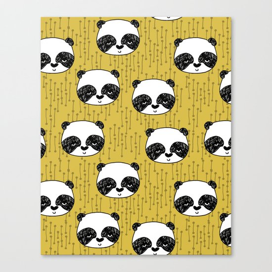 Happy Panda - by Andrea Lauren Canvas Print