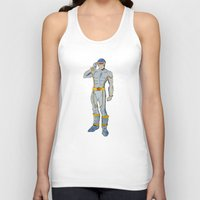 cyclops Tank Tops featuring Cyclops by colleencunha