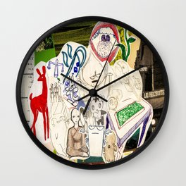 Collage 26 Wall Clock