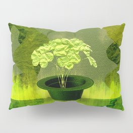 Abstract St Patrick day clover in a hat Pillow Sham