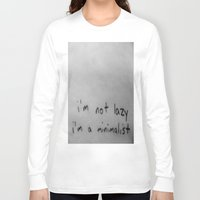 minimalist Long Sleeve T-shirts featuring Minimalist by starvingartist19