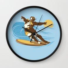 God Surfed Wall Clock