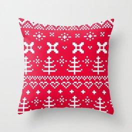 New stylish Folk : Red interior Decor Throw Pillow