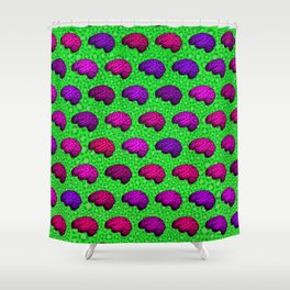 Brains And Leopard Print Shower Curtain