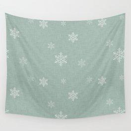 Snow Flakes pattern Green #homedecor #nurserydecor Wall Tapestry