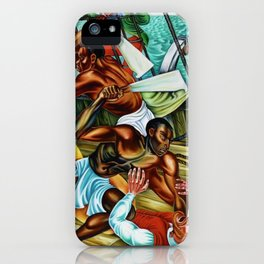 """African American Classical Masterpiece """"The Mutiny on the Amistad"""" by Hale Woodruff iPhone Case"""