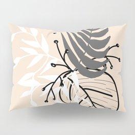 Cream leaves Pillow Sham