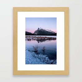 Silent Sunset over Mt. Rundle Framed Art Print